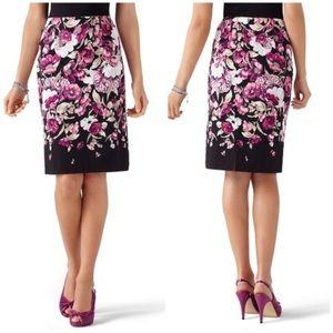 WHBM floral pencil skirt sz2